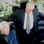 CEO of Greyhound Lines, Inc., David Leach and Sen. Frank Lautenberg