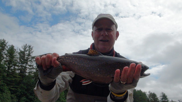 Jim with a Chunk of a Brook trout