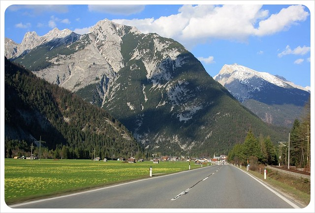Driving along the Alps