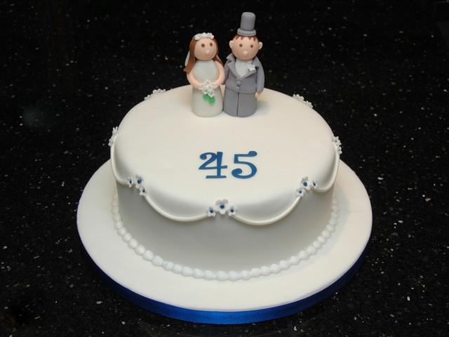Cake Ideas For 45th Wedding Anniversary : 45th wedding anniversary cake Flickr - Photo Sharing!