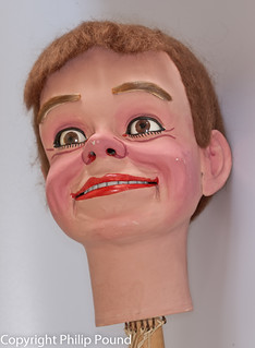 Cheeky Vent Doll Head - Mr Insull made by Philip Pound Photography
