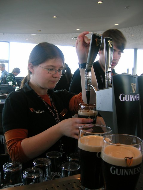 Pouring the Guinness, Dublin