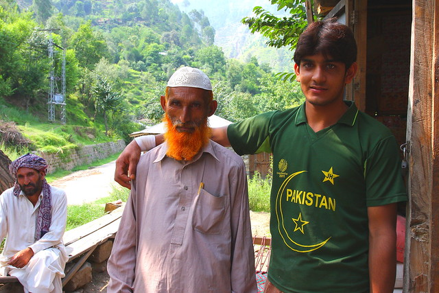 Handsome Grandfather with a sportsman