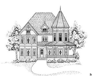 Fachadas para casas victorianas decorando mi hogar for Fachadas de casas modernas para colorear