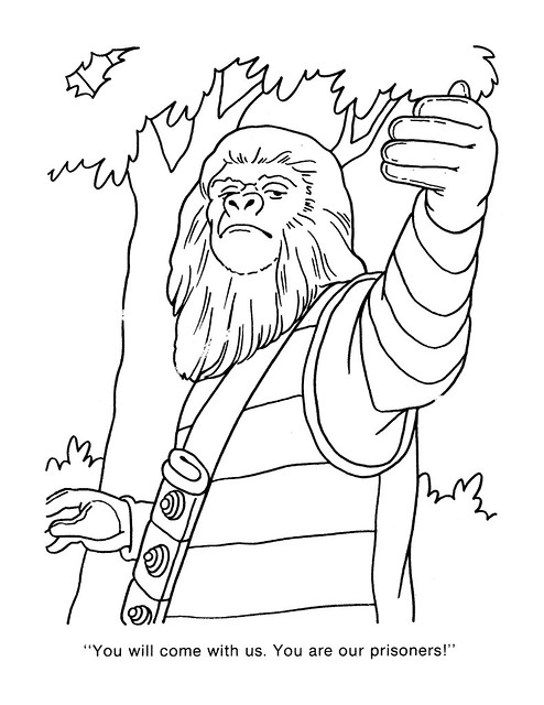 Planet of the Apes Coloring Book 0200024