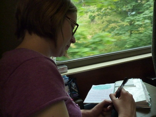 Journaling on The Train