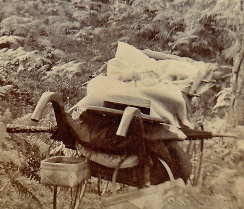 Limpsfield, Surrey. 1899. (baby, hat, parasol & pram detail)