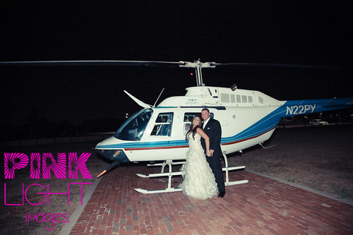 The couple and the copter!