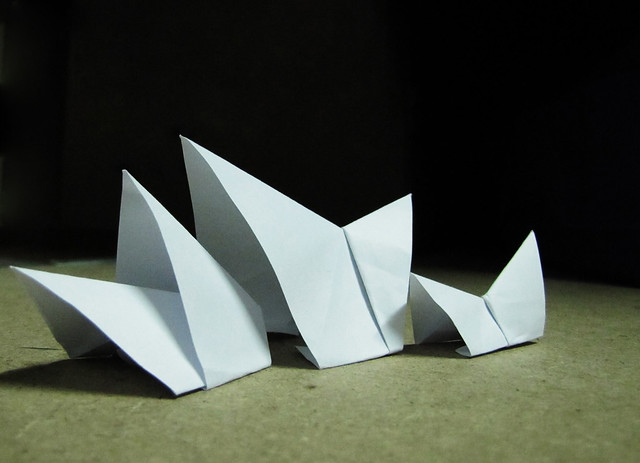 Origami architecture sydney opera house flickr photo for Architecture origami