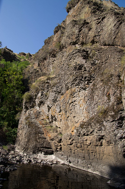 Bottom of large basalt dike on Joseph Creek