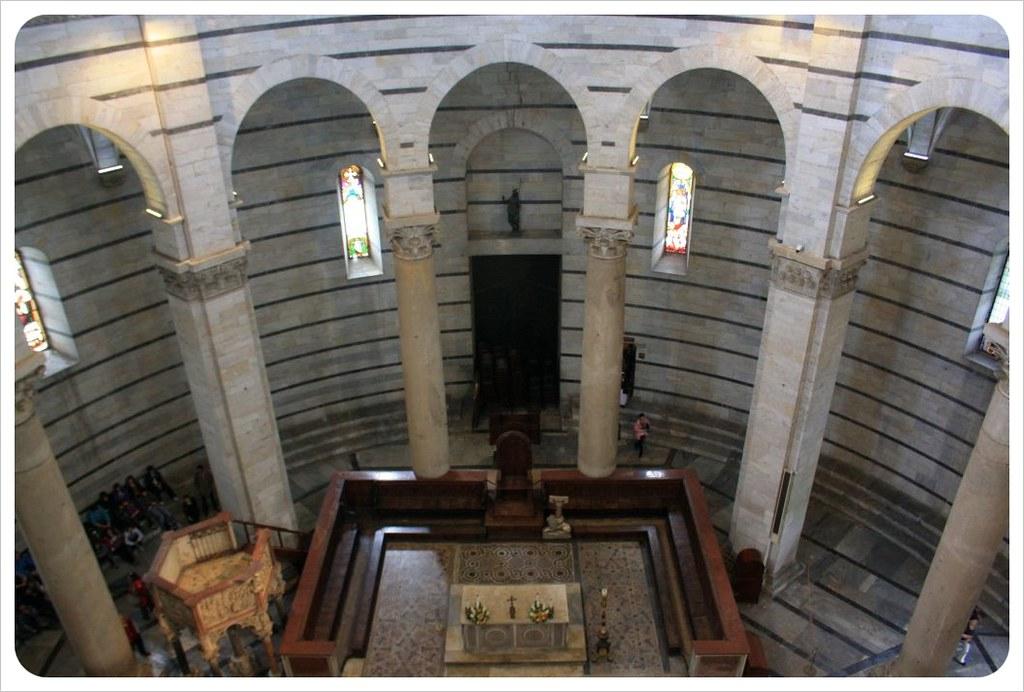 pisa baptistry inside