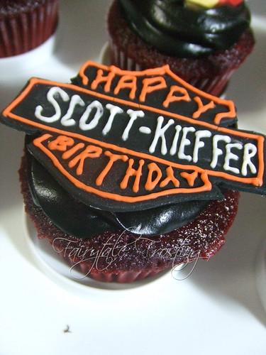 Harley Davidson Birthday Logo Cupcake
