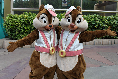 Meeting Discoveryland Chip and Dale