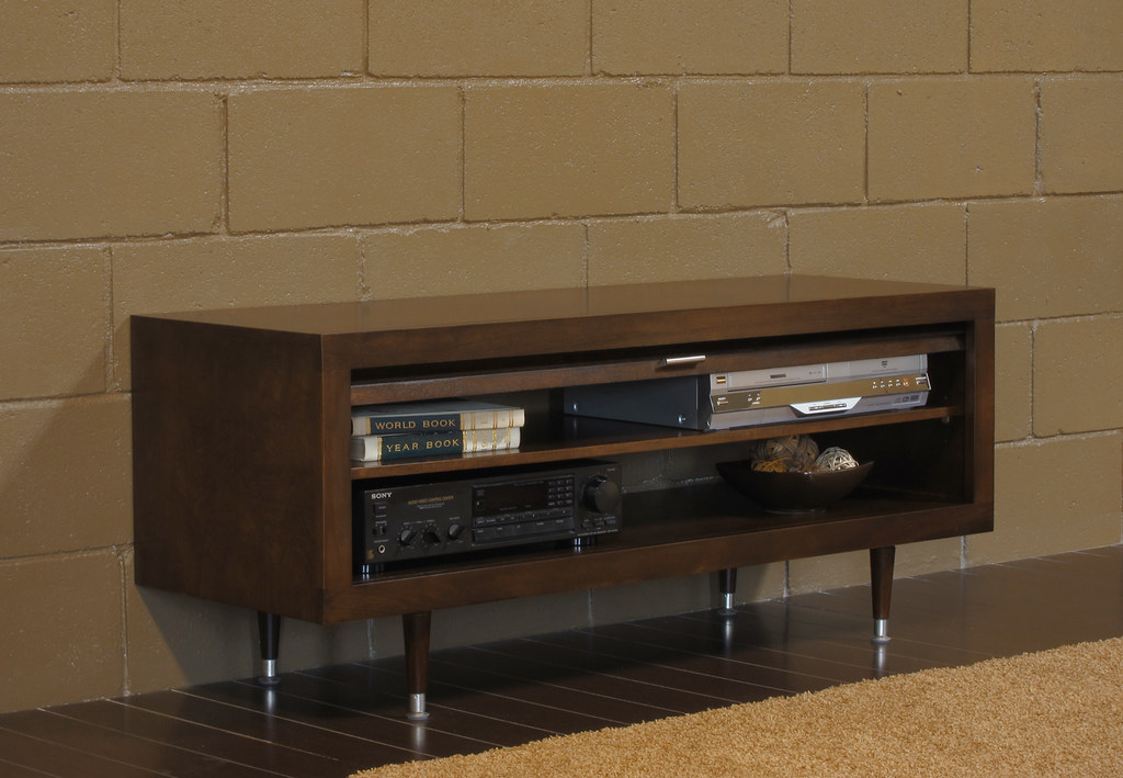 milano midcentury tv stand side mocha