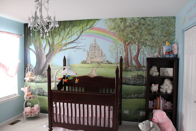 Enchanted forest nursery ryhme mural flickr photo for Woods themed nursery