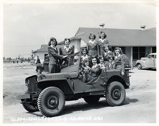 76 Jills in a Jeep, Tyndall Field, Florida WWII