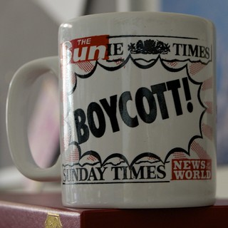 Boycott News International mug 1