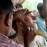 Close Shave on the Streets of Hatiandha, Bangladesh