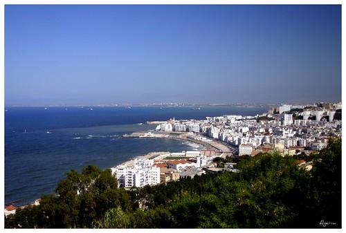 city sea summer mer white color water architecture algeria eau vert bleu algerie notre dame blanche été afrique algiers baie alger 2011 الجزائر algerina flickrchallengegroup icosium
