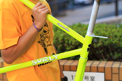 *SURLY* steamroller frame&fork set (neon yellow/53)