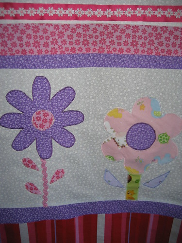 Flower Applique Detail 2 - Liliana's Baby Quilt