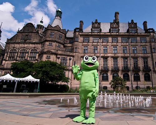 Frog @ Peace Gardens, Sheffield