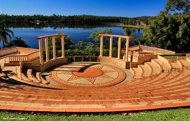 Noosa Botanic Gardens Ampitheatre Overlooking Lake McDonald, Cooroy, Queensland