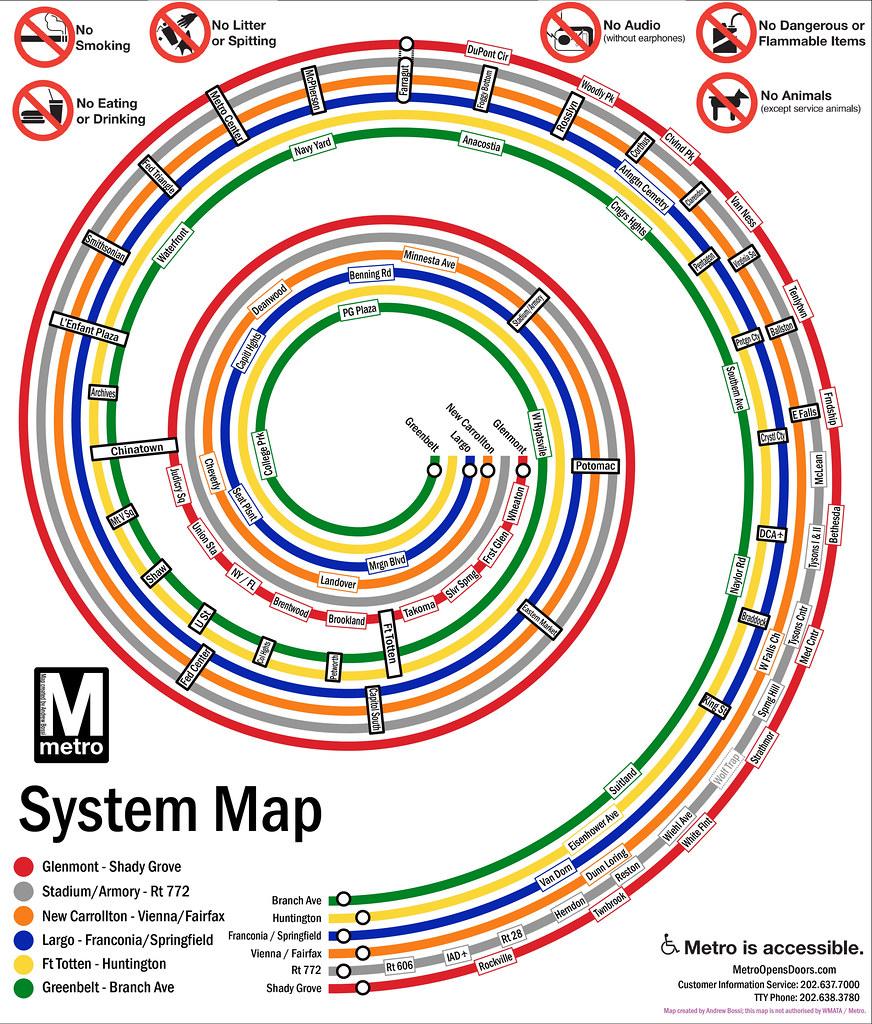 Dc Metro Spiral Names Take That Geospatial Relationship Flickr