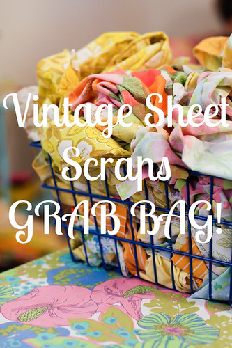 Vintage Sheet Scraps by jenib320