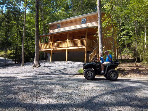 Luxury Cabin ATV passing by