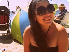sun tanning(0.0), bikini(0.0), glasses(1.0), fun(1.0), cool(1.0), vacation(1.0), spring break(1.0), day(1.0), smile(1.0), sunglasses(1.0),