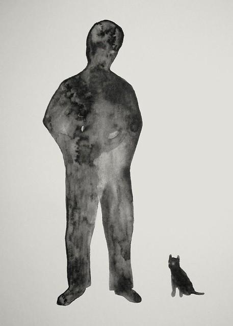hombre con gato, Canon DIGITAL IXUS II