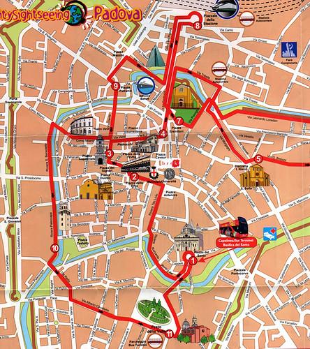 Mapa Padua