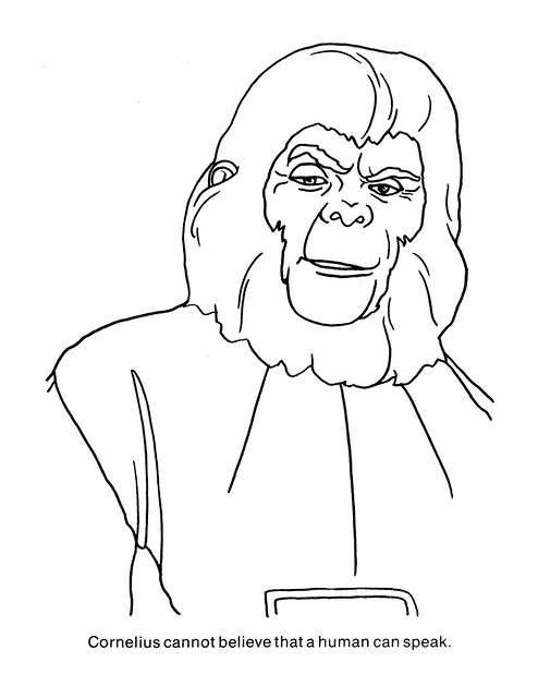 Planet of the Apes Coloring Book 0100042