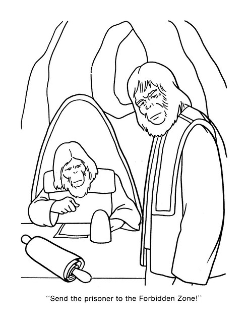 Planet of the Apes Coloring Book 0200049