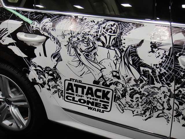 San Diego Comic-Con 2011 - Star Wars marker art by Ken Lashley on a VW Passat (Lucasfilm booth)
