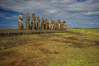 15 Moai of Ahu Tongariki