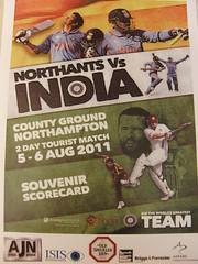 Northants v India.
