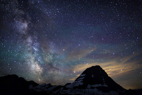 The Milky Way Behind Bear Hat Mountain