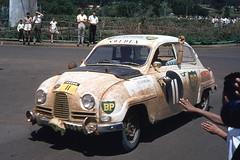 automobile, vehicle, compact car, antique car, sedan, classic car, vintage car, saab 96, land vehicle, motor vehicle, classic,
