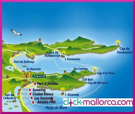 ruta del Paseo en barca a Formentor