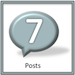 Achievement badge for 7 blog posts