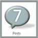 Achievement badge for 7 blog posts