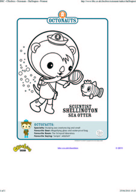 octonauts coloring pages bbc - photo#6