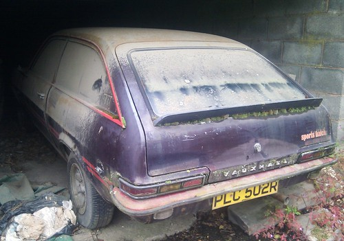 1976 Vauxhall Sportshatch (2.3), with added dust and moss