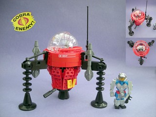 "Cobra ""Pogo"" Ballistic Battle Ball with Cobra Commander in Battle Armour"
