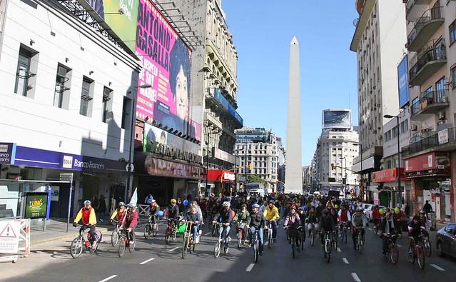 Mauricio Macri en el Compromiso Bicicletas