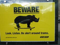 tram warning