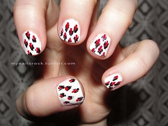 little ikat nail art