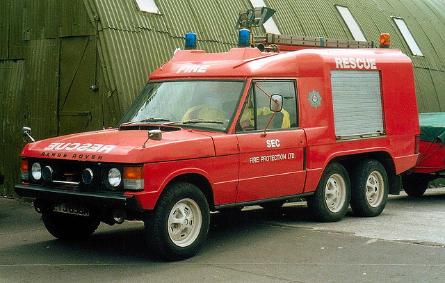 Shepperton Studios with ex Lancs/GMC Range Rover/Carmichael Commando 6x4 RT based at Middleton